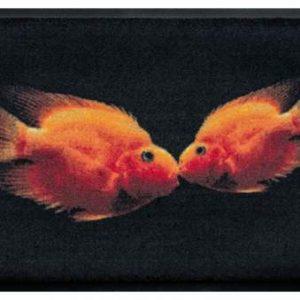 Állatos prémium lábtörlő – aranyhalak