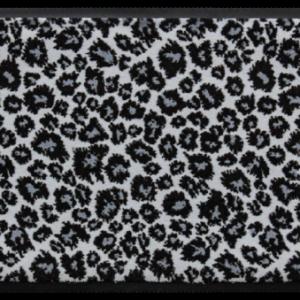Állatos prémium lábtörlő – szürke leopárd mintás