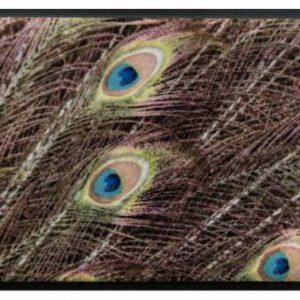 Állatos prémium lábtörlő – pávatollak