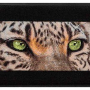 Állatos prémium lábtörlő – zöld szemek