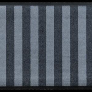Csíkos prémium lábtörlő – kék