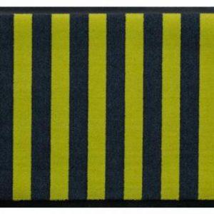 Csíkos prémium lábtörlő – sárga-zöld