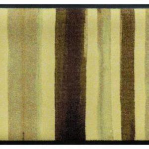 Csíkos prémium lábtörlő – barna festékcsíkok