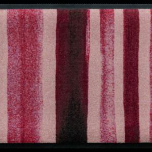 Csíkos prémium lábtörlő – piros festékcsíkok
