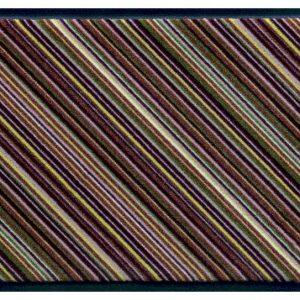 Csíkos prémium lábtörlő – barna átlós