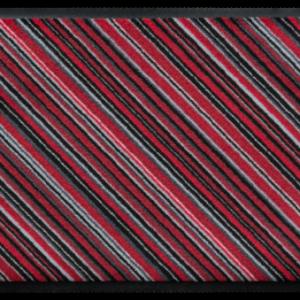 Csíkos prémium lábtörlő – piros átlós
