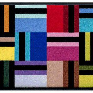 Csíkos prémium lábtörlő – mozaik