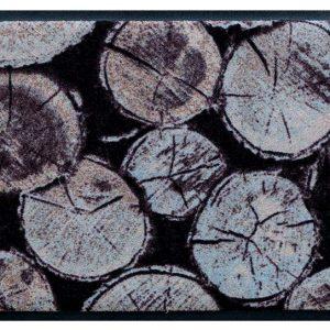 Elemek prémium lábtörlő – fahasábok