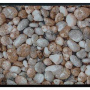 Elemek prémium lábtörlő – barna kavicsok