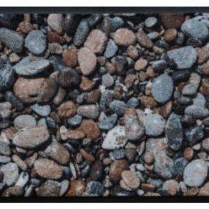 Elemek prémium lábtörlő – kavicsos