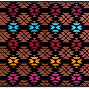 Indián mintás prémium lábtörlő – színes