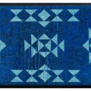 Indián mintás prémium lábtörlő – kék