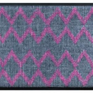 Indián mintás prémium lábtörlő – rózsaszín-szürke