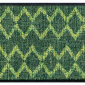 Indián mintás prémium lábtörlő – sárga-zöld