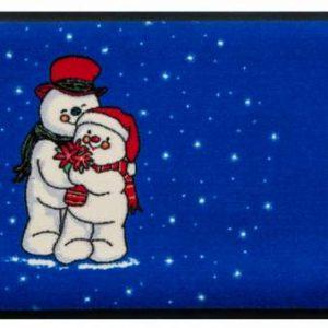 Ünnepi prémium lábtörlő – Hóemberek