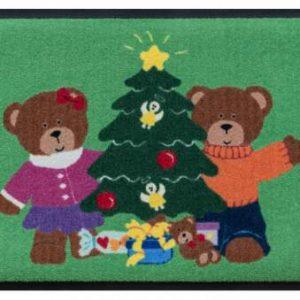Ünnepi prémium lábtörlő – karácsonyi mackók