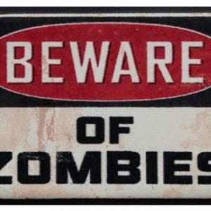 Ünnepi prémium lábtörlő – beware of zombies