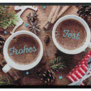 Ünnepi prémium lábtörlő – forró csoki