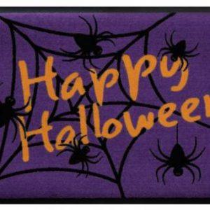 Ünnepi prémium lábtörlő – halloween pókháló