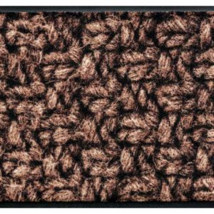Kötött mintás prémium lábtörlő – barna