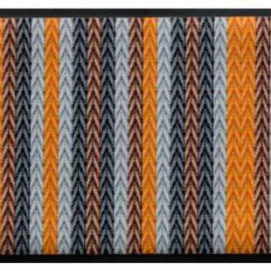 Kötött mintás prémium lábtörlő – sárga-barna