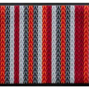 Kötött mintás prémium lábtörlő – piros