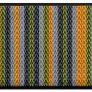 Kötött mintás prémium lábtörlő – sárga-zöld