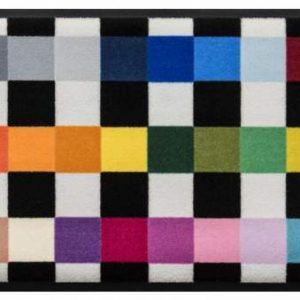 Geometriai mintás prémium lábtörlő – sokszínű pepita