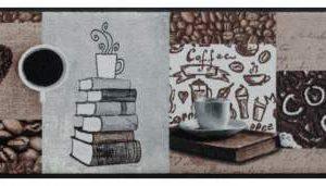 Konyhai prémium lábtörlő – kávé és könyvek