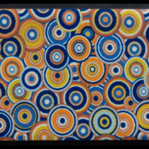 Retro stílusú prémium lábtörlő – színes körök