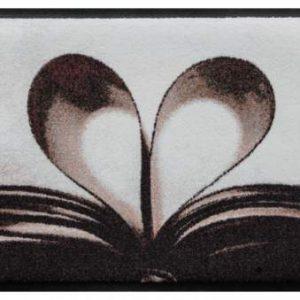 Szívmintás prémium lábtörlő – könyv