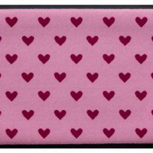 Szívmintás prémium lábtörlő – rózsaszín szívek