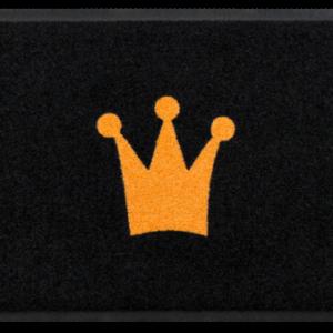 Szívmintás prémium lábtörlő – korona