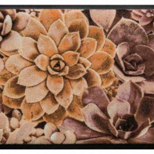 Virágok és levelek prémium lábtörlő – kaktusz