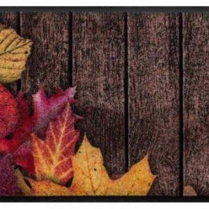 Virágok és levelek prémium lábtörlő – ősz