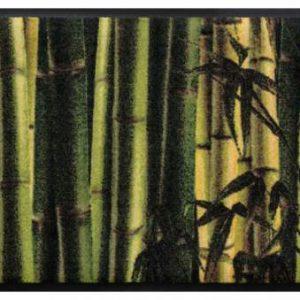 Virágok és levelek prémium lábtörlő – bambusz