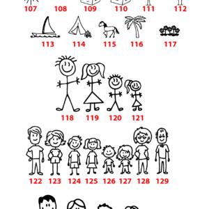 Ajtódísz családi mintával és névvel – púder