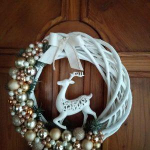 Karácsonyi ajtódísz – szarvasos
